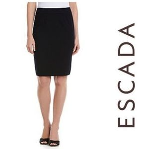 Escada Couture black wool pencil skirt